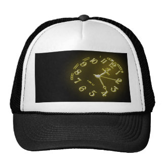Heat with clock trucker hat