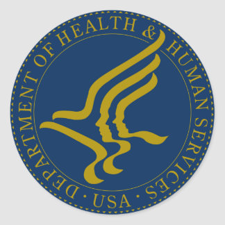Heath and Human Services Department Classic Round Sticker