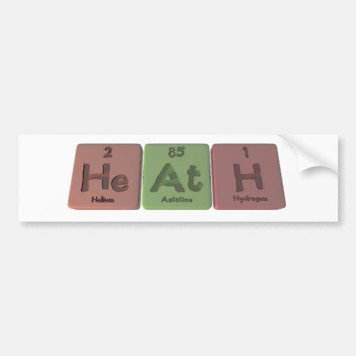 Heath as Helium Astatine Hydrogen Car Bumper Sticker