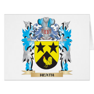 Heath Coat of Arms - Family Crest Large Greeting Card