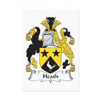 Heath Family Crest Canvas Prints