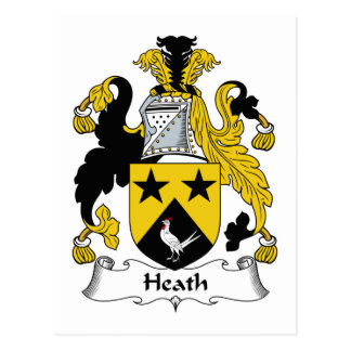 Heath Family Crest Postcard