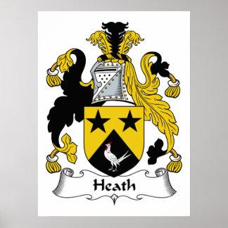 Heath Family Crest Poster