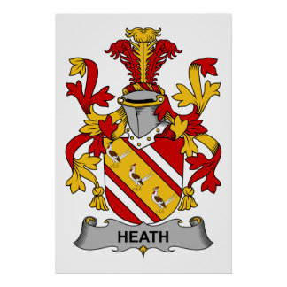 Heath Family Crest Posters