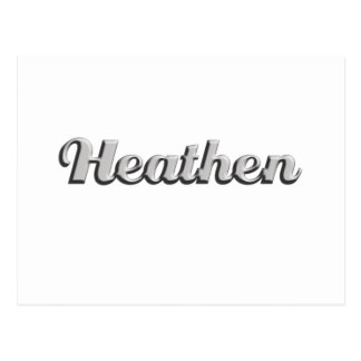 heathen postcard
