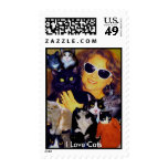 Heather and Cats, I Love Cats - Customized Postage Stamps