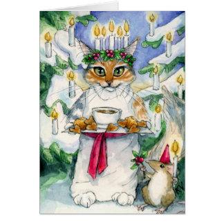 Heather as Santa Lucia Christmas card