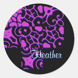 Heather Designer Name Sticker