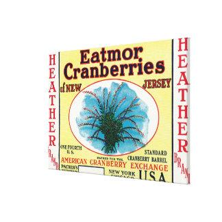 Heather Eatmor Cranberries Brand Label Gallery Wrap Canvas