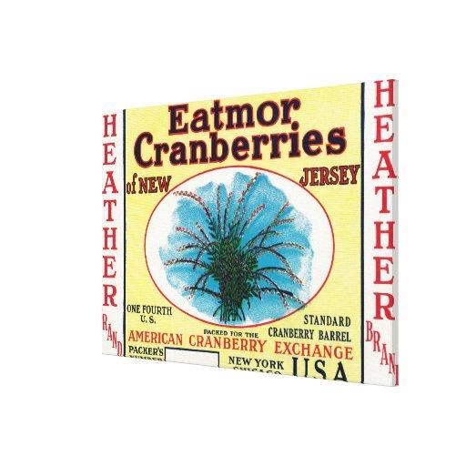 Heather Eatmor Cranberries Brand Label Canvas Print