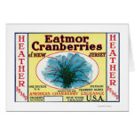 Heather Eatmor Cranberries Brand Label Card