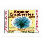 Heather Eatmor Cranberries Brand Label Postcard