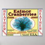 Heather Eatmor Cranberries Brand Label Poster