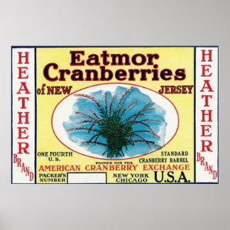Heather Eatmor Cranberries Brand Label Print