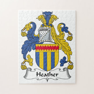 Heather Family Crest Jigsaw Puzzle