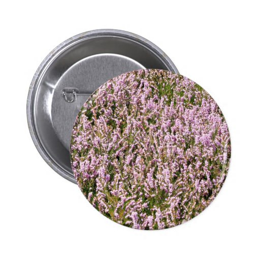 Heather Flowers Beautiful View 2 Inch Round Button