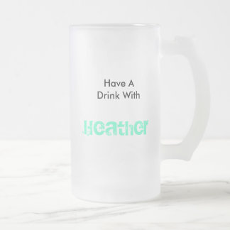 Heather Frosted Glass Beer Mug