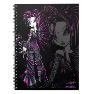 Heather Gothic Pink Flower Fairy Notebook