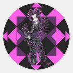"""""""Heather"""" Gothic Pink Flower Fairy Stickers"""