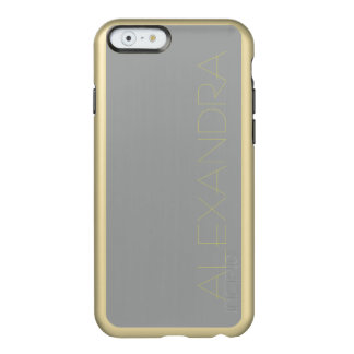 Heather Gray Solid Color Customize It Incipio Feather Shine iPhone 6 Case