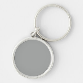 Heather Gray Solid Color Customize It Keychain
