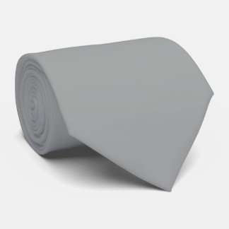 Heather Gray Solid Color Customize It Neck Tie