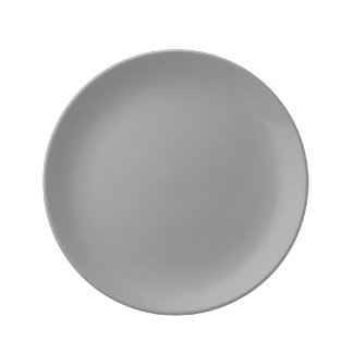Heather Gray Solid Color Customize It Plate