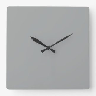 Heather Gray Solid Color Customize It Square Wall Clock