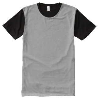 Heather Gray Solid Color All-Over Print T-shirt