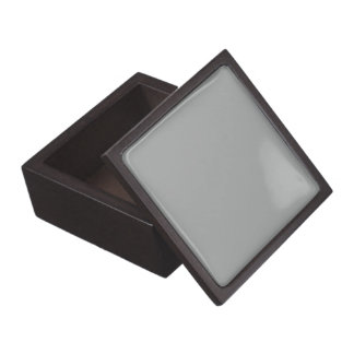 Heather Gray Solid Color Jewelry Box