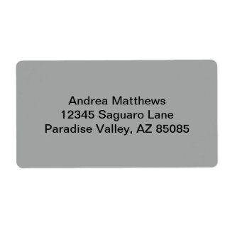 Heather Gray Solid Color Personalized Shipping Labels