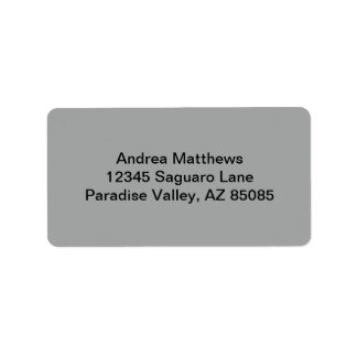 Heather Gray Solid Color Custom Address Labels