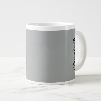 Heather Gray Solid Color Large Coffee Mug