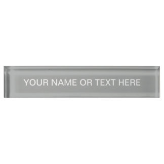 Heather Gray Solid Color Nameplate