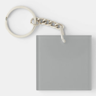Heather Gray Solid Color Solid Color Keychain
