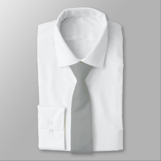 Heather Gray Solid Color Tie