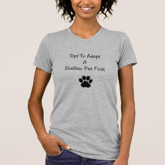 Heather Grey Opt To Adopt Shelter Pet t-shirt