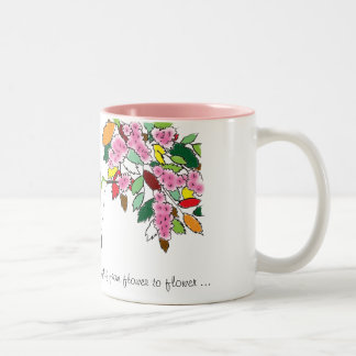 Heather Hummingbird flitting from flower to flower Coffee Mug