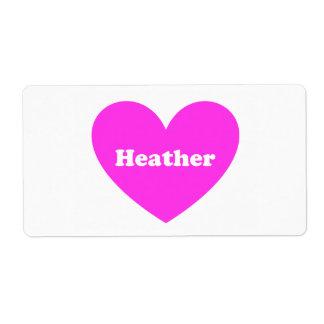 Heather Label