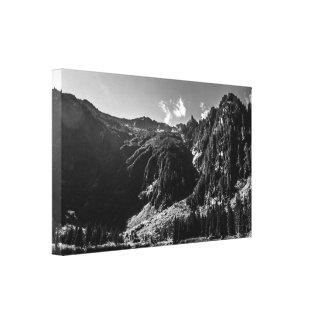 Heather Lake Black and White Canvas Print