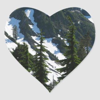 Heather Meadows Trees Heart Sticker