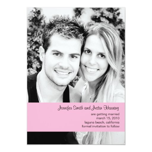 Heather Photo Save the Date Personalized Announcements