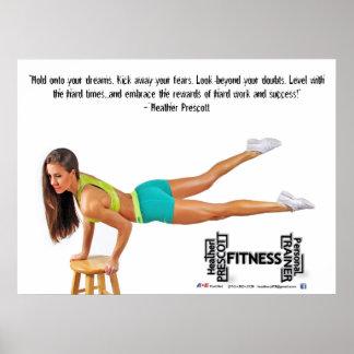 Heather Prescott Fitness Poster