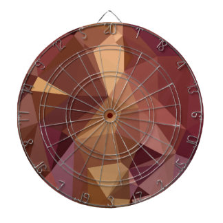 Heather Purple Abstract Low Polygon Background Dartboard With Darts