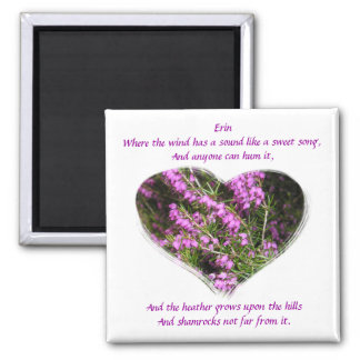Heather & Shamrocks Irish Proverb Magnet