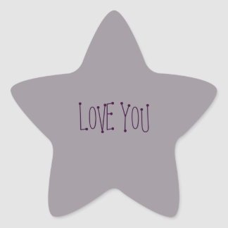 Heather Star Love You Stickers