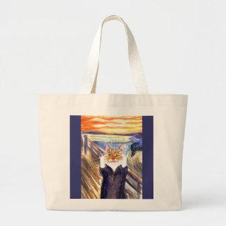 Heather the Cat in The Scream Jumbo Tote Bag