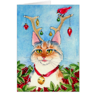 Heather the pink-nosed reincat cards