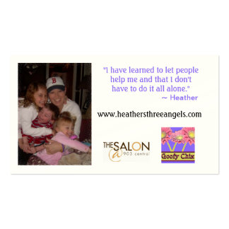 Heather's 3 Angels Indestructible Card Business Card