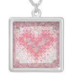 Heathers Lacy Heart Quilt Custom Necklace